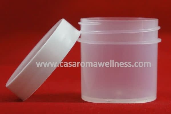 1 ounce Plastic Jar with cover