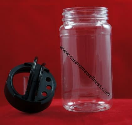 8 Ounce Clear Plastic Spice Jar